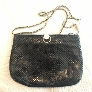 Bueno Black Sequined Bag w. Gold Accents